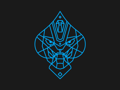 Cayde of Spades destiny2 destiny cayde-6 monoline line work gaming video games portrait exo robot hunter guardian minimal linework modern badge sci-fi