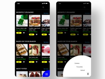 Healthy vegan cake recipes cake recipe app adobe photoshop ui design mobile app dribble invite adobe xd mobile app design design dribble dribble shot uxdesign adobe
