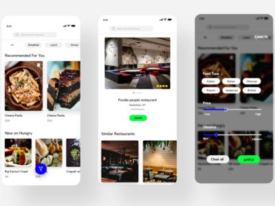 Food and restaurant app app design mobile app design uidesign uxdesign restaurant booking app food app dribbble best shot dribble adobe photoshop adobe adobexd