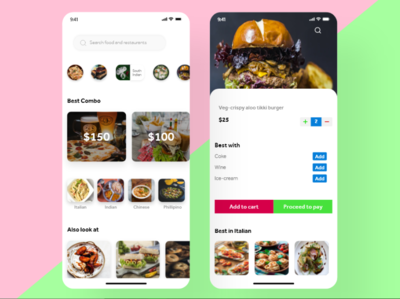 Food ordering app ui design ux design dribbbble food ordering app mobile app design adobe pjhotoshop adobexd adobe