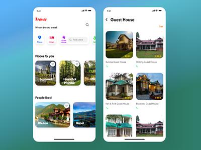 Travelling app travel app mobile app ui design ux design adobe photshop adobexd adobe