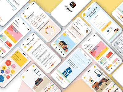 """""""brighter"""" - App Glam Shot app designer app app design therapy design app mindfulness mockups ui design uxdesign uidesign ui user interface design"""