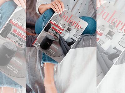 Galerie Magazine Cover Redesign branding design redesign cover magazine cover magazine design magazine