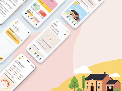 """brighter"" Card user interface design ux uidesign ui app designer app design concept app therapy mindfulness"