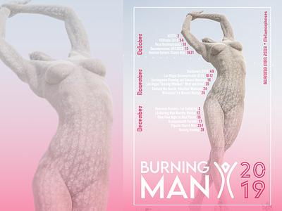 Burning Man 2019 Poster Concept visual design graphic visual art poster art burningman poster design