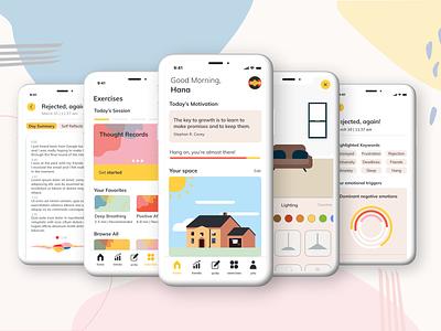 """brighter"" App Presentation concept ux uxdesign therapy mindfulness app user interface design ui uidesign design"