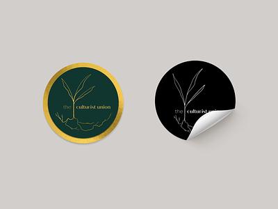 The Culturist Union - Coffeehouse Stickers mockup sticker sustainability coffee branding logo design logo logotype