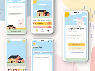 """brighter"" - Children's Concept ux uiux design uidesign mindfulness therapy kids brighter user interface ui mockup design mockup"