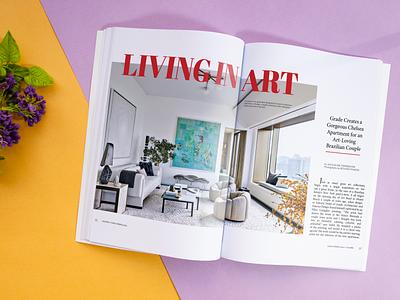 Galerie Magazine Spread Redesign redesign. redesign spread magazine