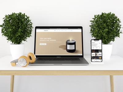 """""""hyggehome"""" - E-commerce Subscription Concept Mockup aromatherapy subscription box candles concept hyggehome e-commerce product mockup glamshot home"""