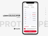 Loans Calculator concept - Protopie link included