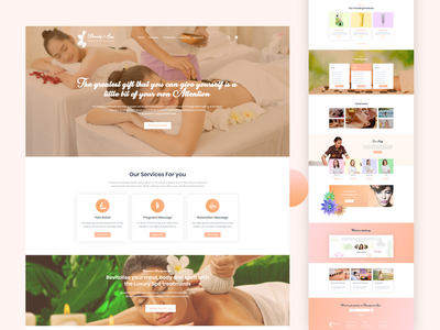 BeautySpa   Modern web template for Spa Center