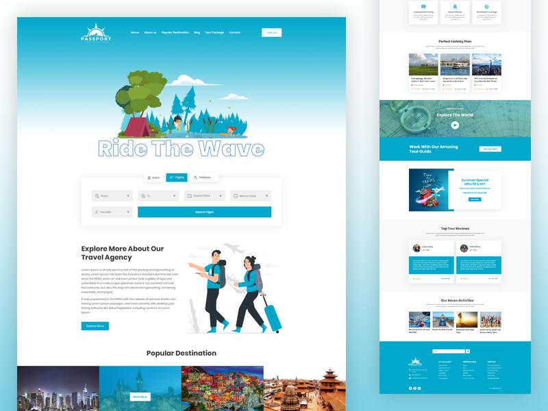 Passport Tours & Travel agency Landing Page