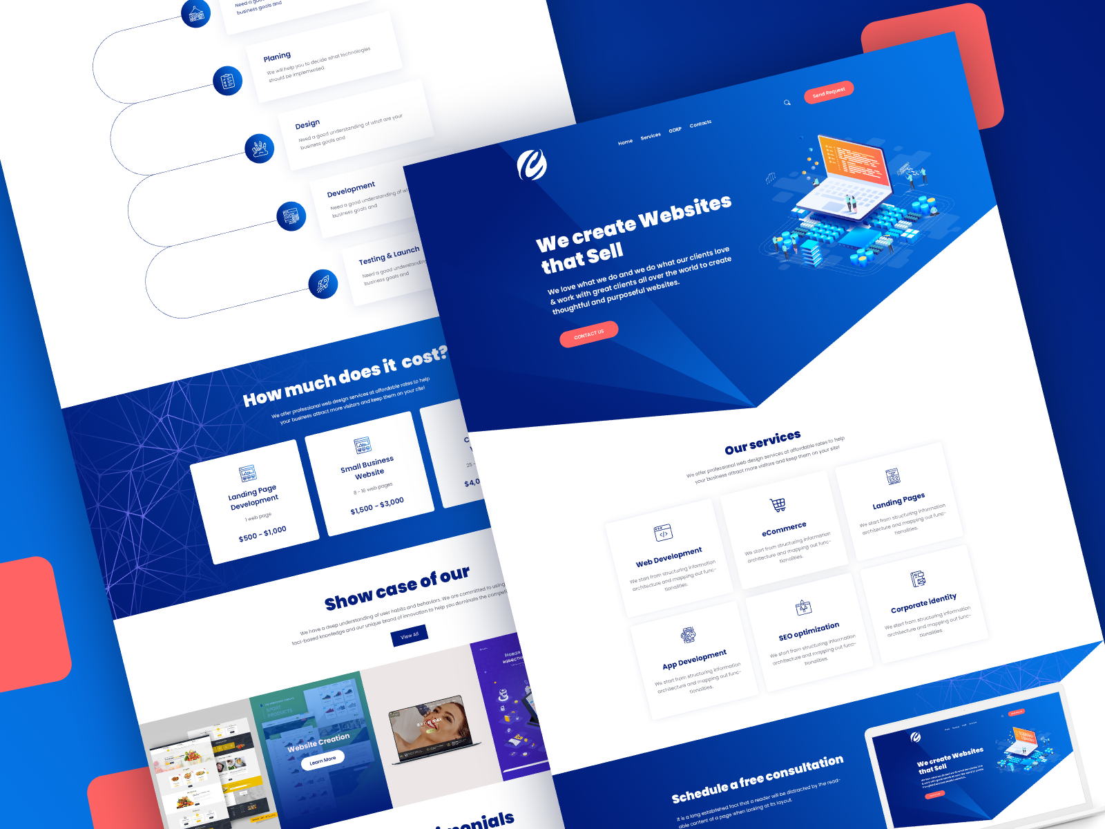 Creative Web Design Development Agency Web Template By Pluginbazar On Dribbble