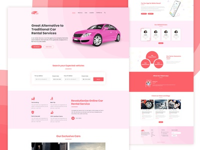Taxi Complete Website Template