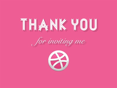 Thank You For Inviting Me By Vudesign Dribbble
