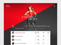 iMusic - Taylor Swift Page Concept