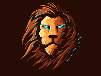 lion head logo design vector vector animation icon logo illustration