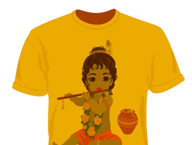T SHIRT DESIGN  ON Krishna Janmashtami t shirt design design