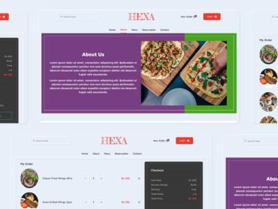 Resturant - About us resturant design ui anjit adobexd website webdesign