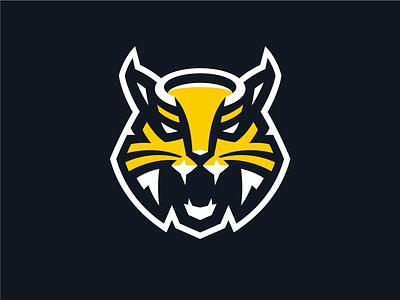 HC Severstal cat wildcat sport mascot lynx hockey logo khl hockey q10 sports logo sports identity sports design sports branding sports