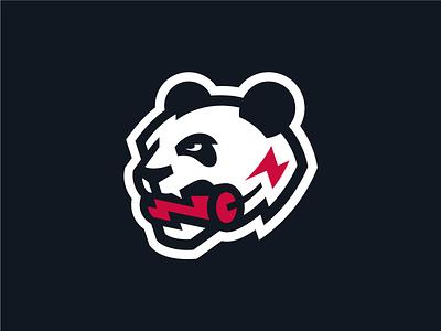 Crazy Panda crazy dynamite lightning panda q10 design sports logo sports identity sports design sports branding sports sport