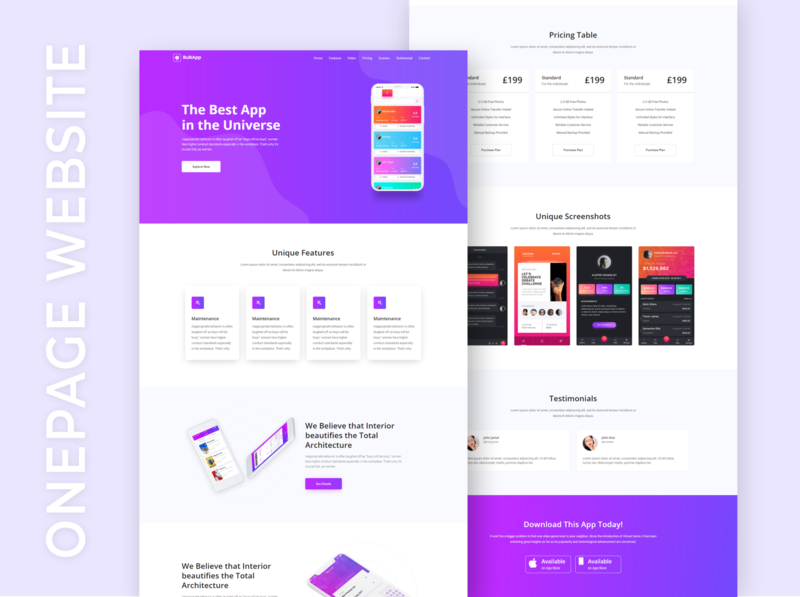 Responsive OnePage Website By Shuvo Sarker wordpress onepage website wordpress landing page wordpress blog shuvosarker01 shuvosarker sarker shuvo branding typography design web design elementor wordpress design webdevelopment webdesign elementor-pro wordpress