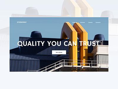 Zyro Business Template portfolio homepage neutral webdesign branding business landing page responsive minimalistic minimal ui design website design website