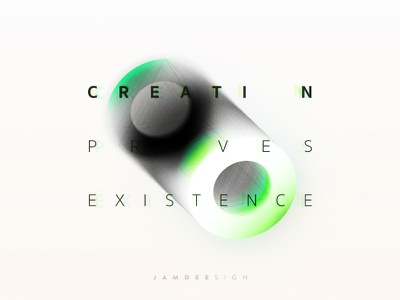 Creation Proves Existence #2 graphic design ai ps illustrate existence proves creation