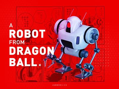 A Robot From Dragon Ball comic ball dragon robot illustration 3d c4d