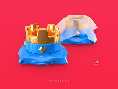 Crown of Clash Royale 3d gold ps illustration c4d royale clash of crown
