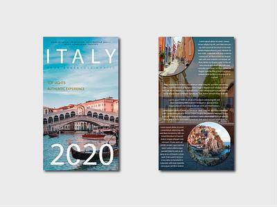 Flyer Design: Travel To Italy website branding web font designer designs flat design flyer template flyer artwork flyer design flyers flyer flat vector illustration design