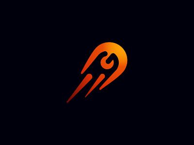 Letter G Comet Logo fire flame comet g logo letter g affinity designer symbol logos logo brand logodesign branding identity design brand logo