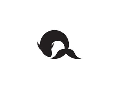 Q Fish Logo marine letter q fish logo fish symbol logos logo brand business logodesign branding identity design brand logo