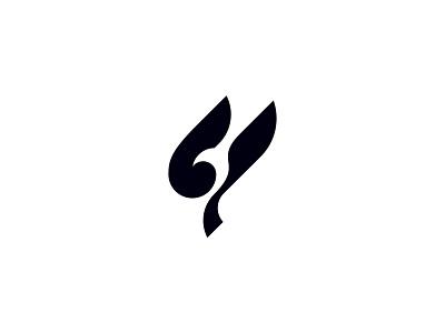 Flying Bird Logo negativespace minimalist minimal bird logo fly wing bird icon symbol logos logo brand business logodesign branding identity design brand logo