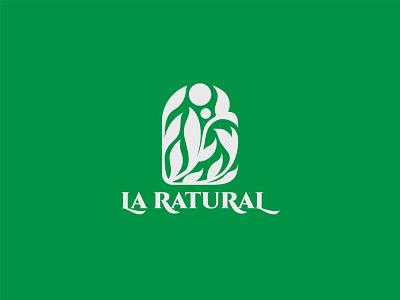 La Ratural Beauty Clinic logo health modern spa facial natural beauty skin care dermathology clinic treatment business branding identity design brand logo