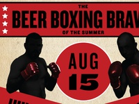 Beer Boxing Event Poster
