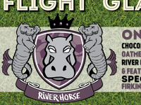 """River Horse """"football club logo"""" for Youth Soccer Fundraiser"""