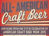 Blend Bar American Craft Beer Week Posters