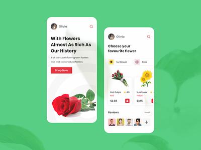 Flower App ios flower app flower design app