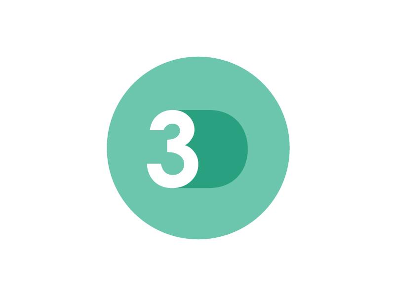 Flat 3D Circle Logo flat circle logo green 3d