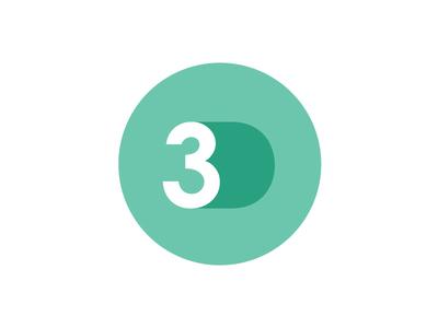 Flat 3D Circle Logo