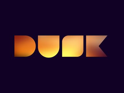 Dusk Interactive Logo moon seth jenks glow dusk logo interactive design agency identity yellow dark purple orange