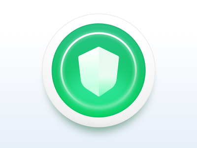 ID Theft Protection Icon neumorphism green glow circle icon shield