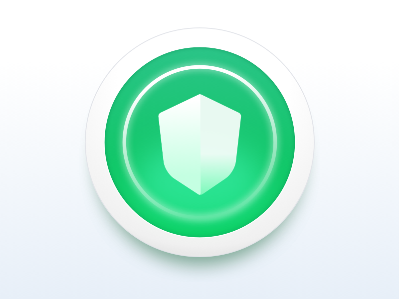 ID Theft Protection Icon green glow circle icon shield