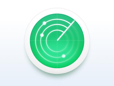 Monitoring Service Icon neumorphism radar monitoring icon