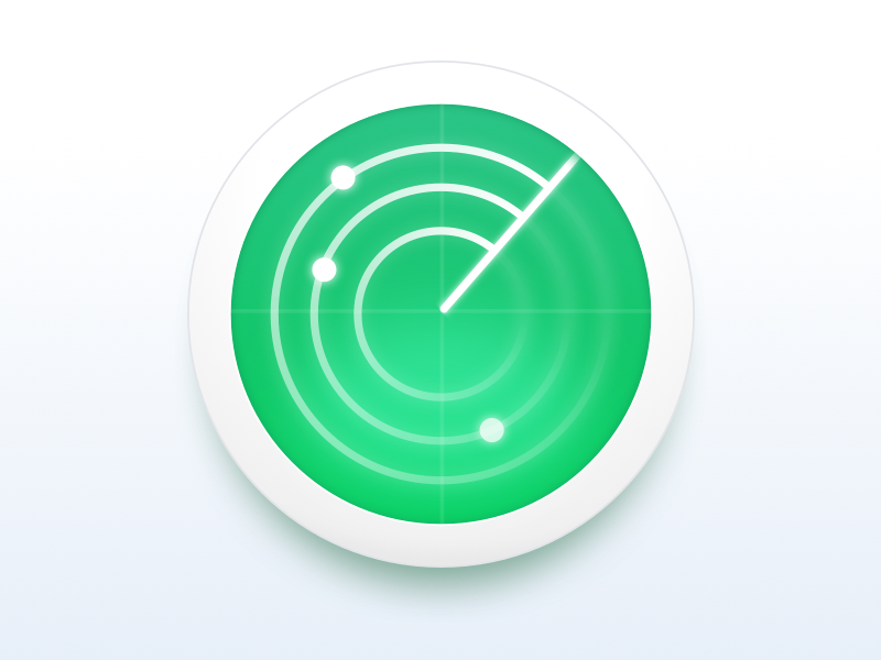Monitoring Service Icon radar monitoring icon
