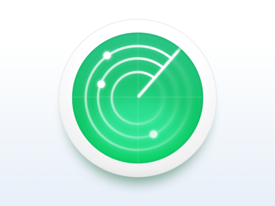 Monitoring Service Icon neumorphism radar monitoring icon