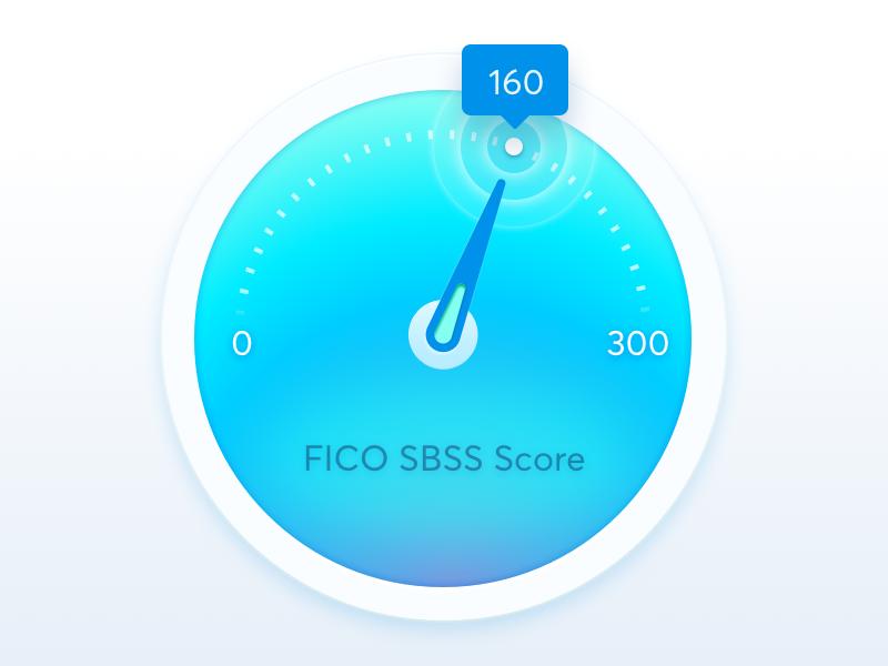 FICO SBSS Score Icon icon dashboard business credit credit fico