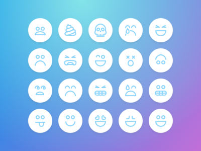 Nav Emoji Icons worried skull illustration icon happy sad poop emojis